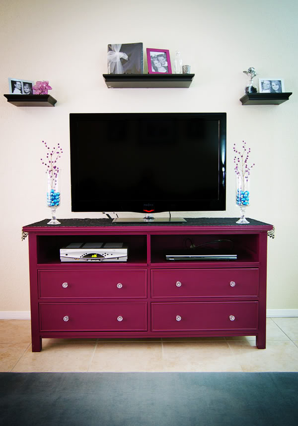 Dresser Turned into TV Stand