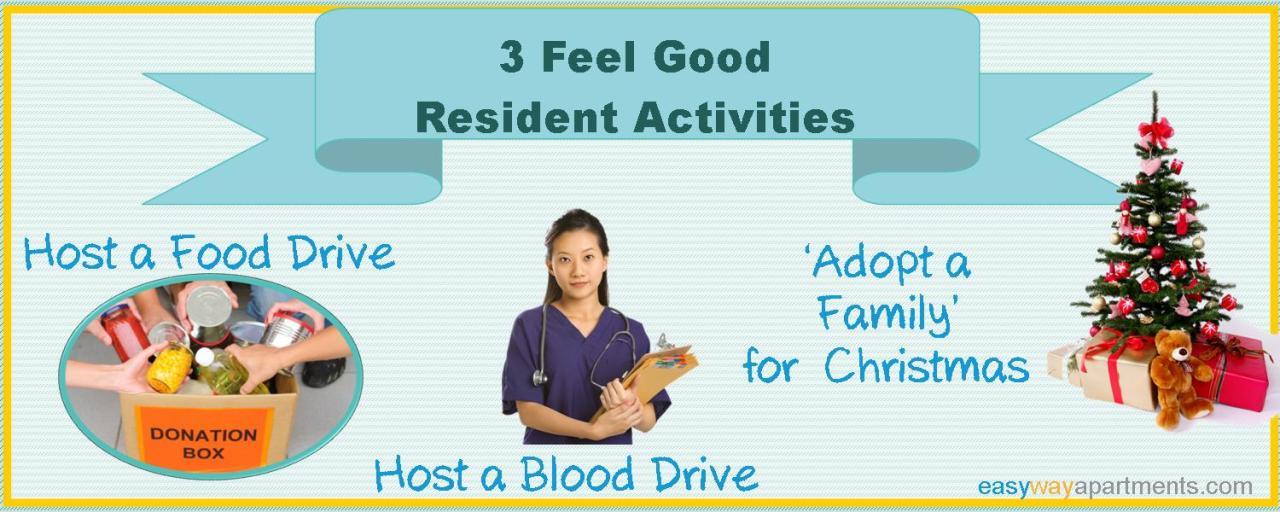 3 Great Feel Good ResidentActivities