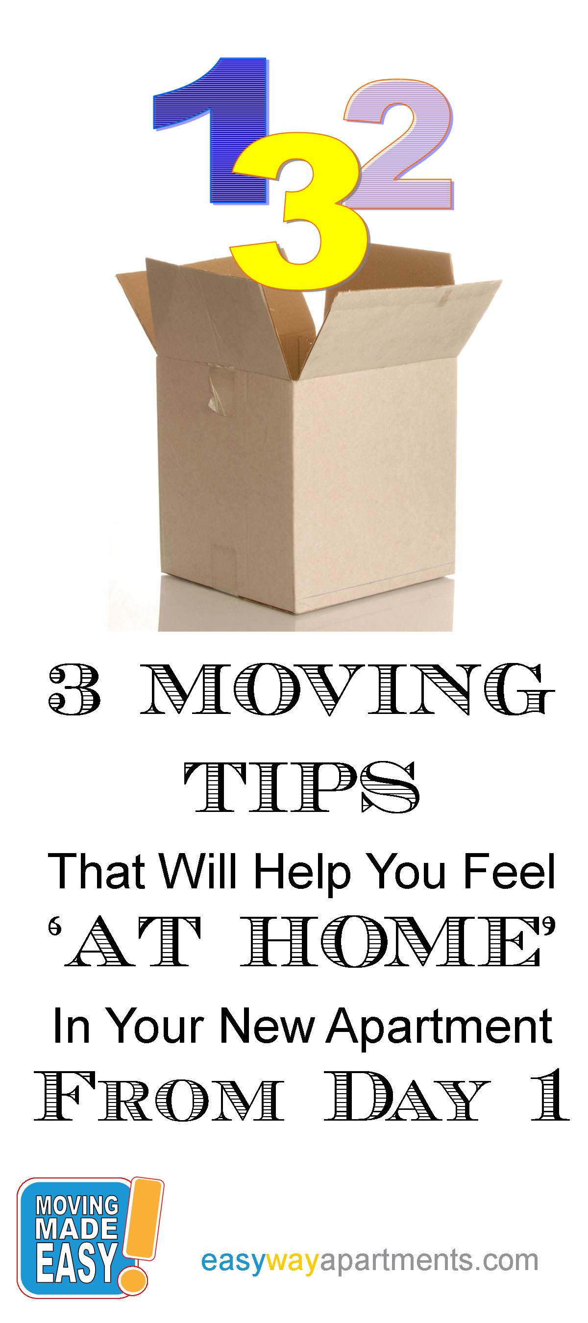 These 3 tips will help you feel comfy and cozy in your new apartment from dayone!