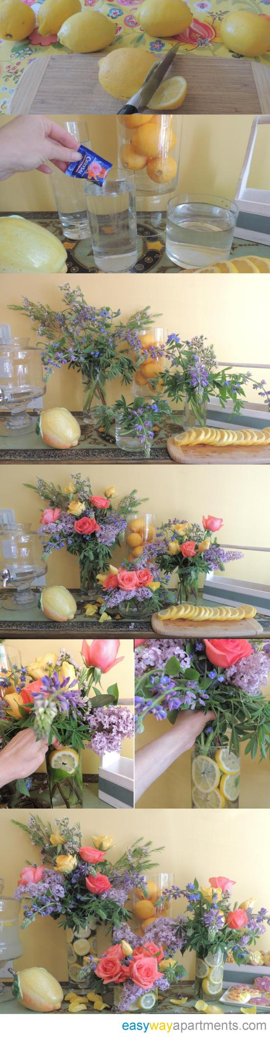 Keep Calm and Drink Lemonade | Spring Flower Arrangement Tutorial