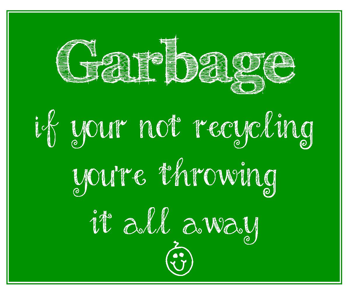 FREE printable garbage sign to encourage recycling | EasyWayApartments ...