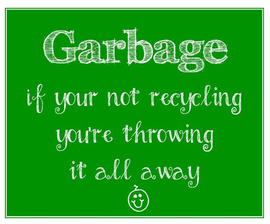 FREE printable garbage sign to encourage recycling | EasyWayApartments.com