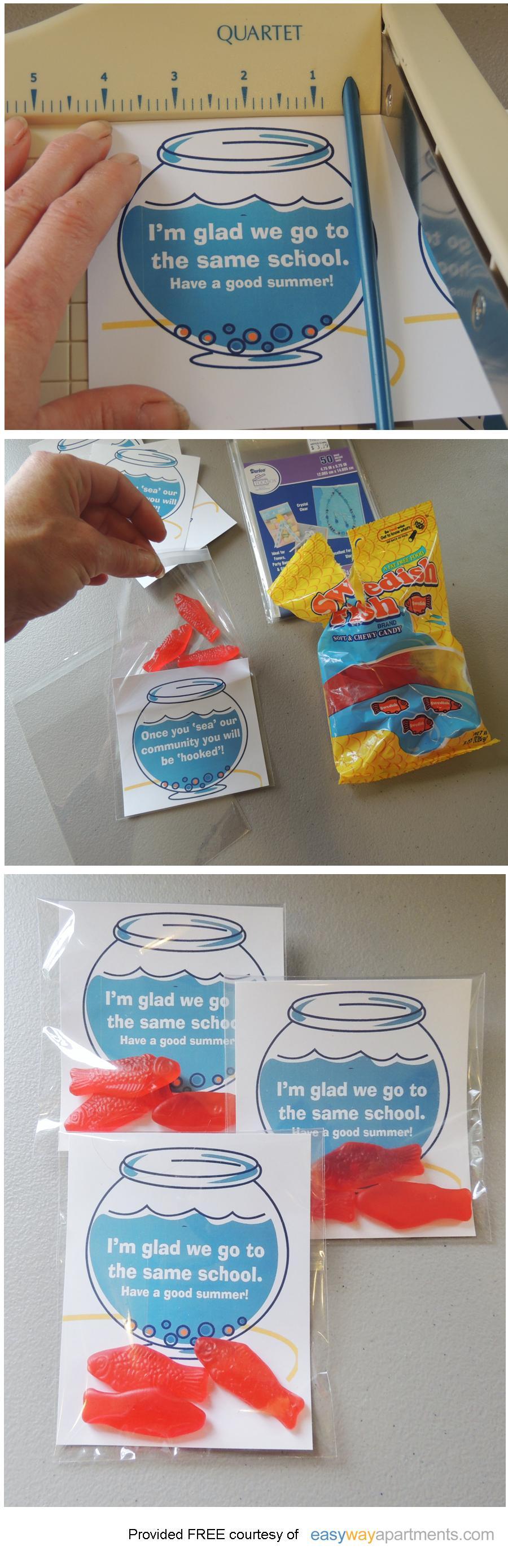 Classmate Gift | I'm glad we go to the same school FREEprintable