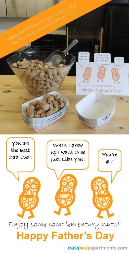 Fathers Day Complementary Nuts from EasyWayApartments