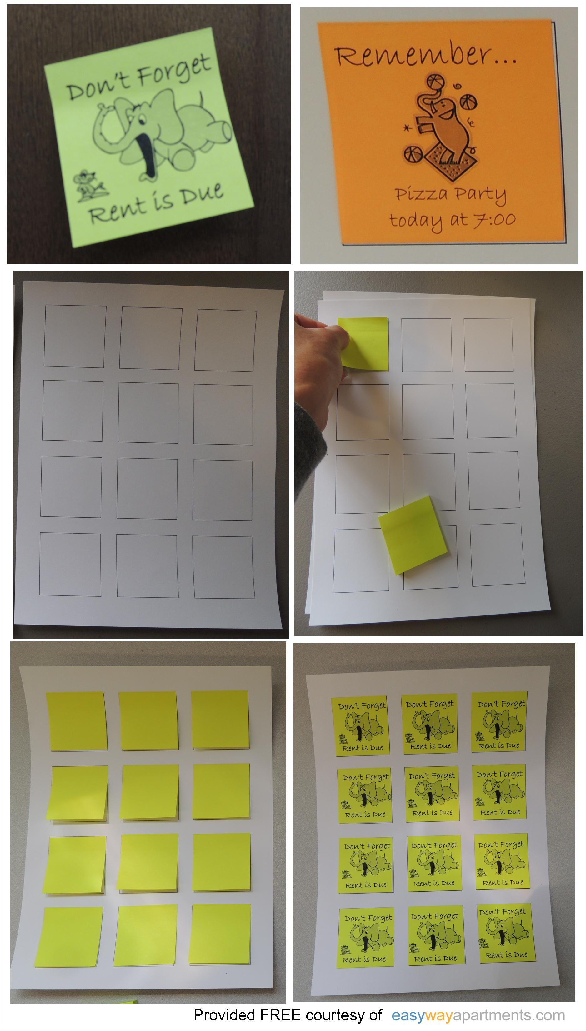 It is a graphic of Printable Postit Notes within printed