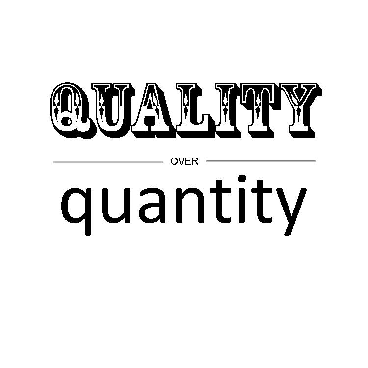 quantity over quality essay Free water quality papers, essays, and research papers groundwater quality and quantity - groundwater is a merchandise which is proposed to be utilized wisely whilst ensuring its serenity and sacredness lake tarpon's water quality: change over an eight year span.