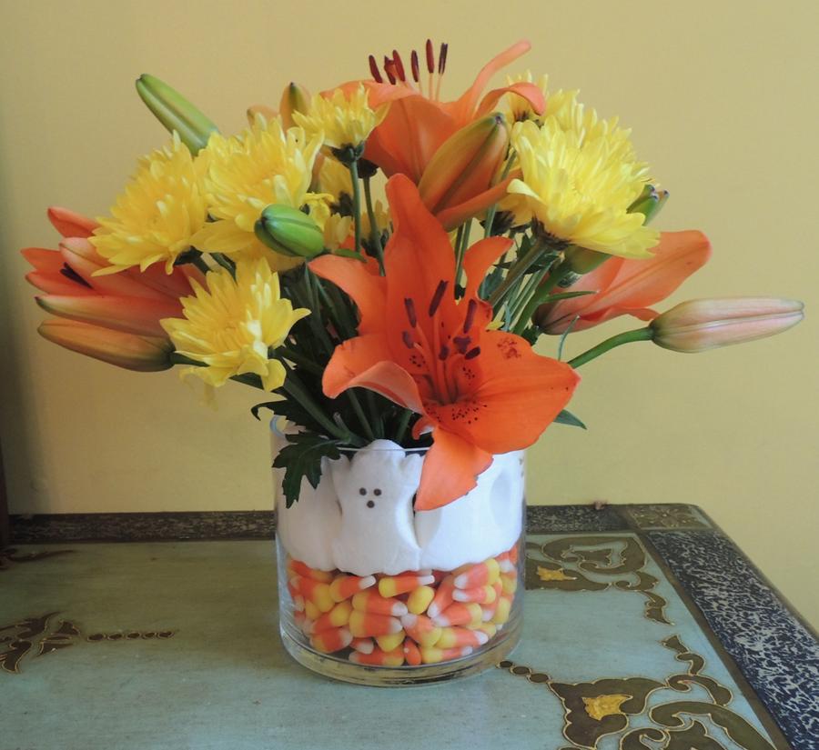 #Halloween #flower #arrangement easy how to
