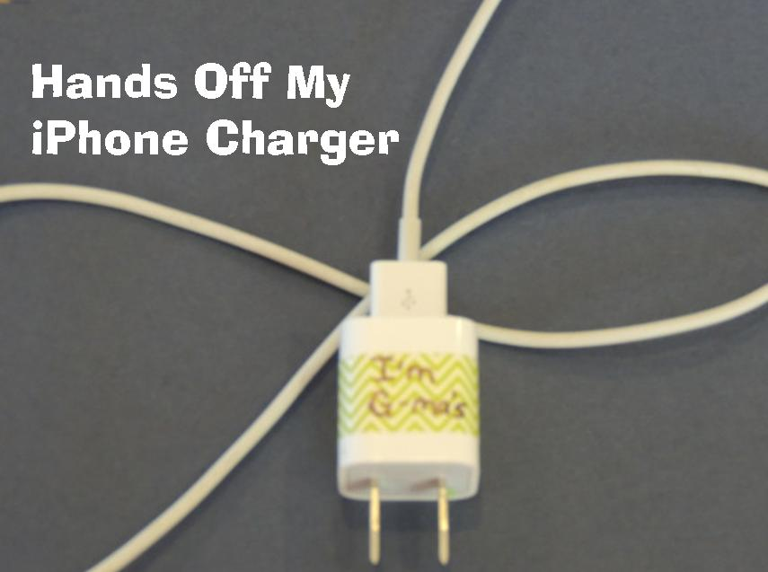 Hands Off My iPhone Charger | an easy way to keep your charger safe via EasyWayApartments.com