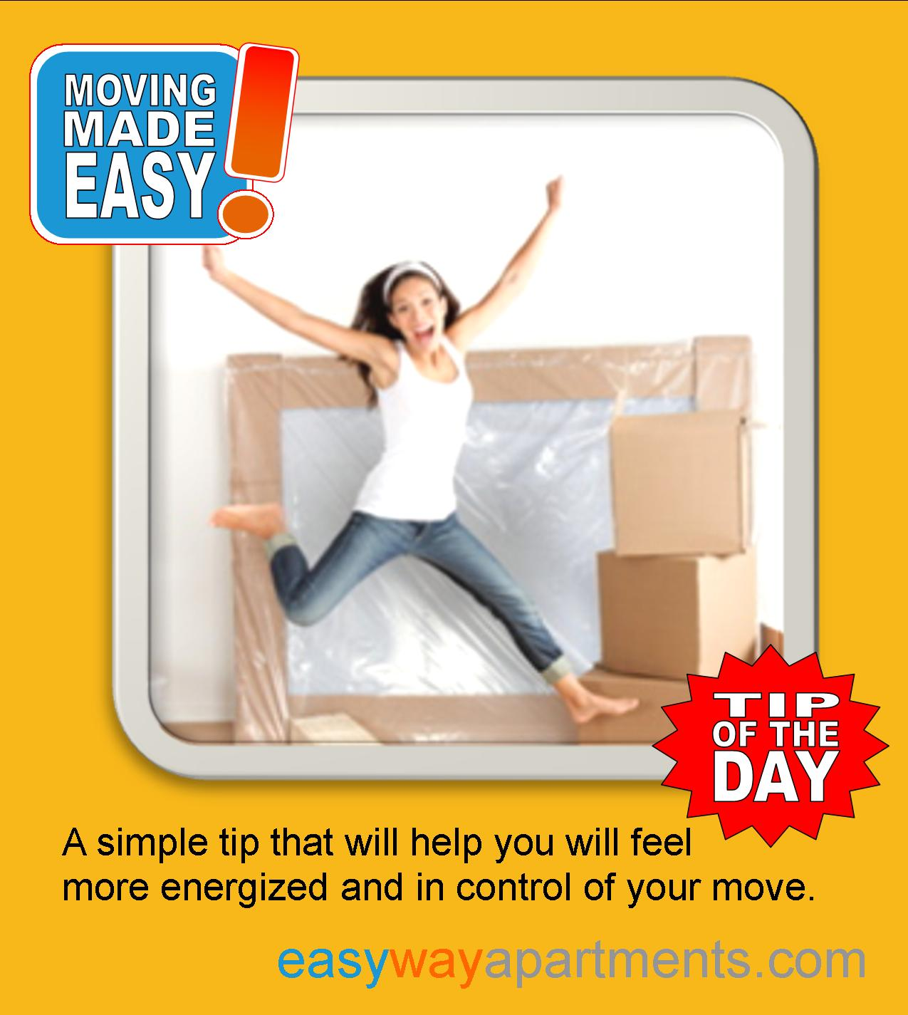 #Moving Made Easy| How to stay in controll and #energized when you move