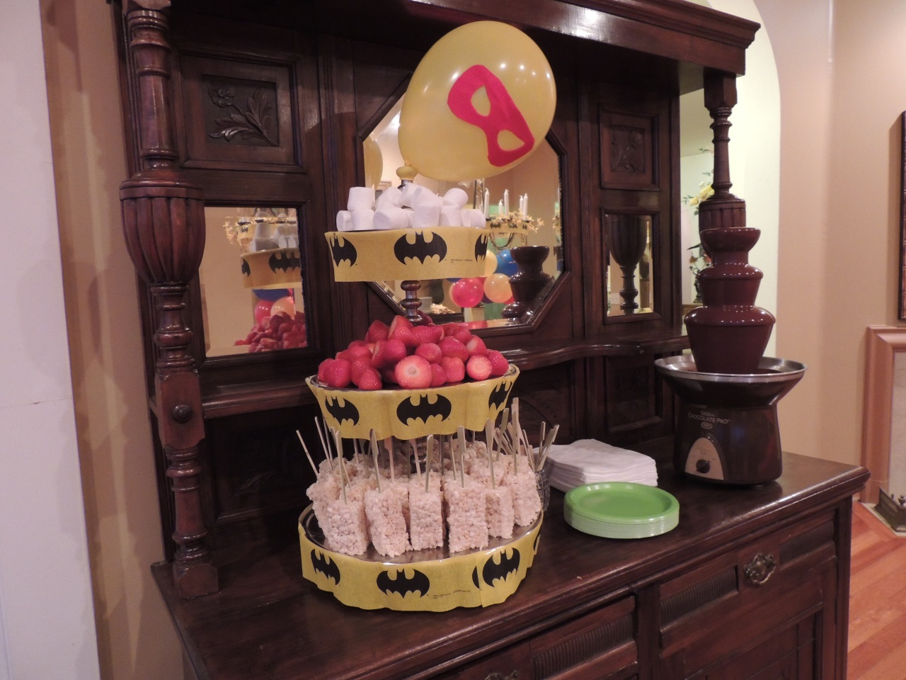 #superhero chocolate fountain