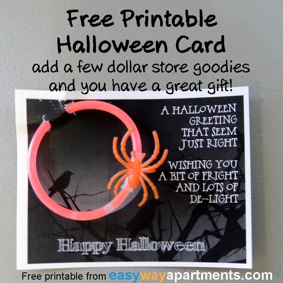 Free Printable Halloween Card | Great Resident Gift
