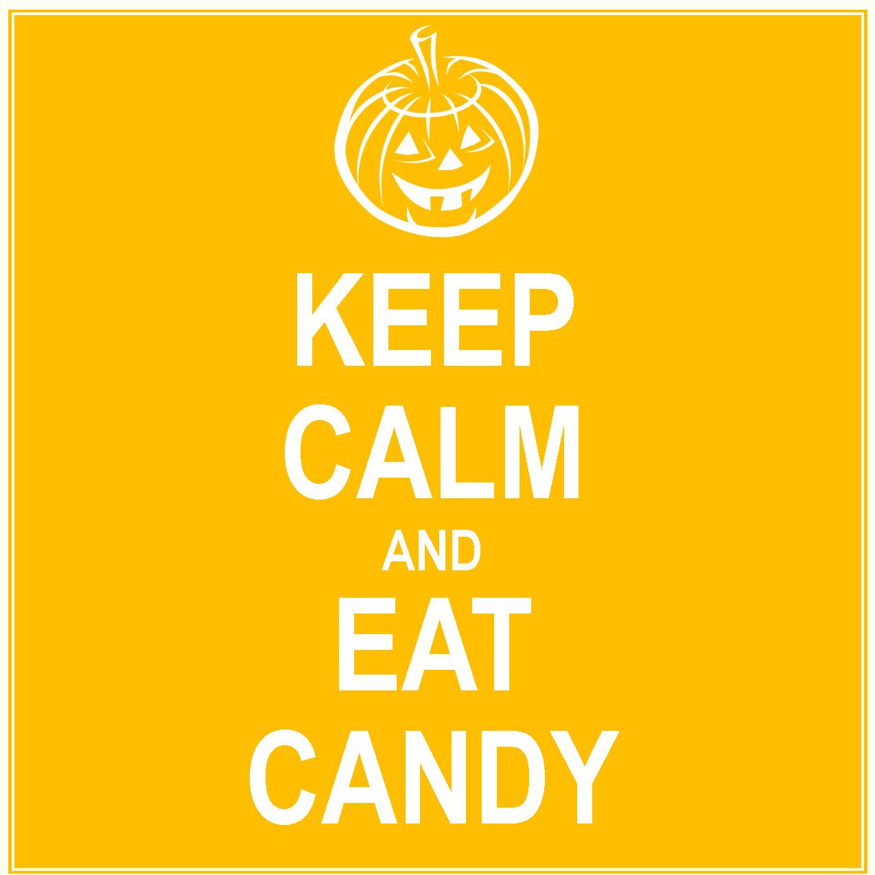 keep calm and eat candy 8x8