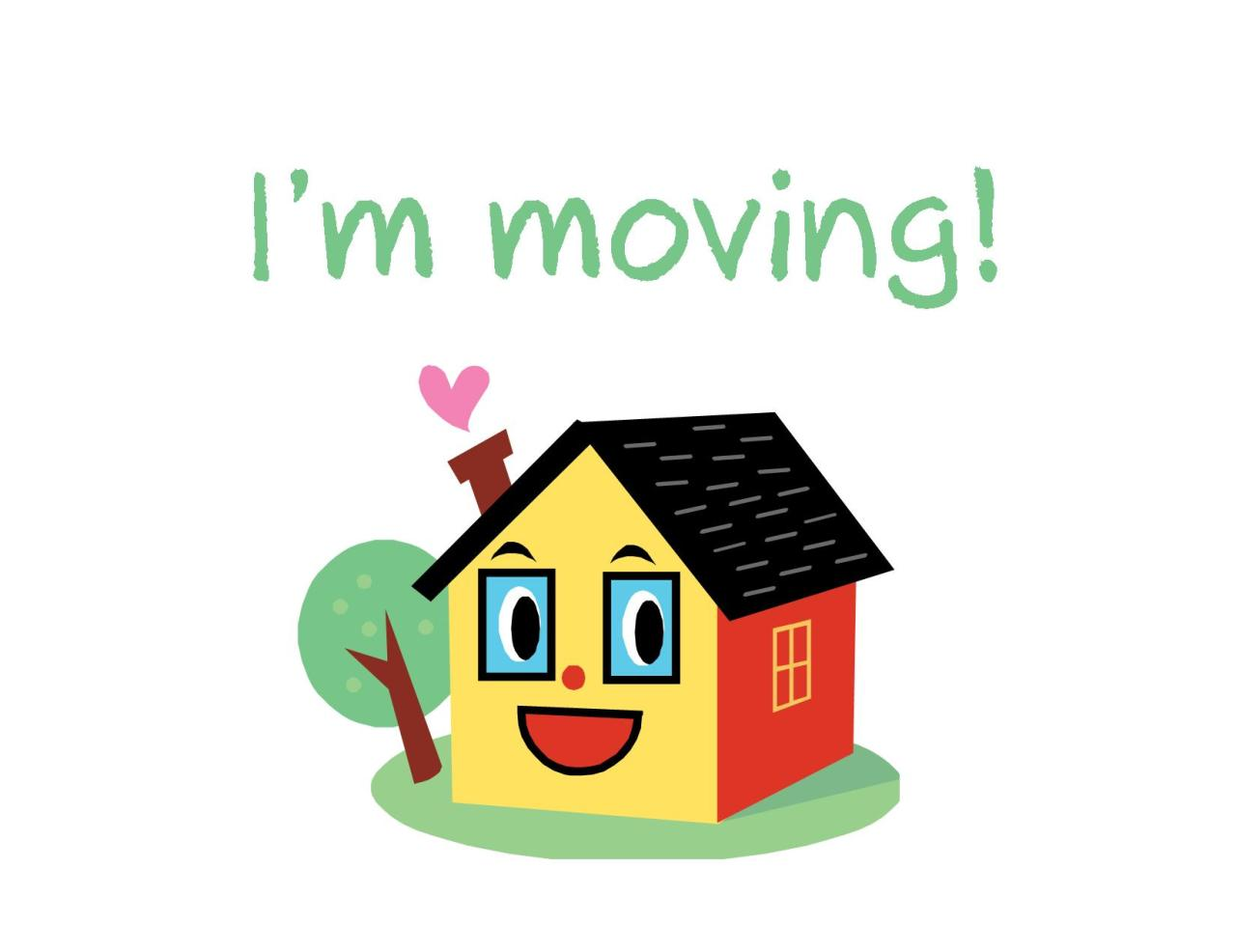 Moving announcement Change of address card Free Printable i'm moving house