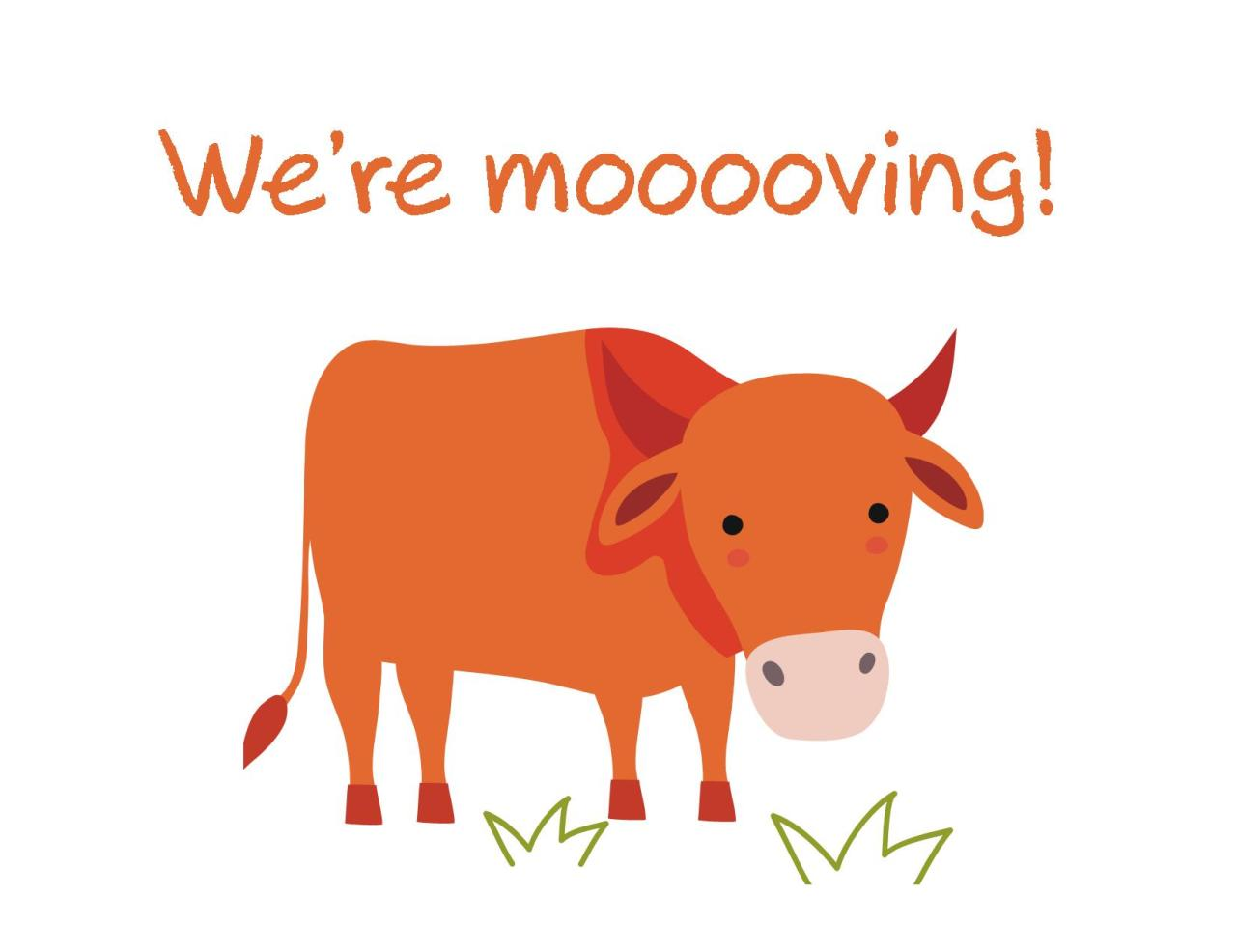Moving announcement Change of address card Free Printable We re mooooooving