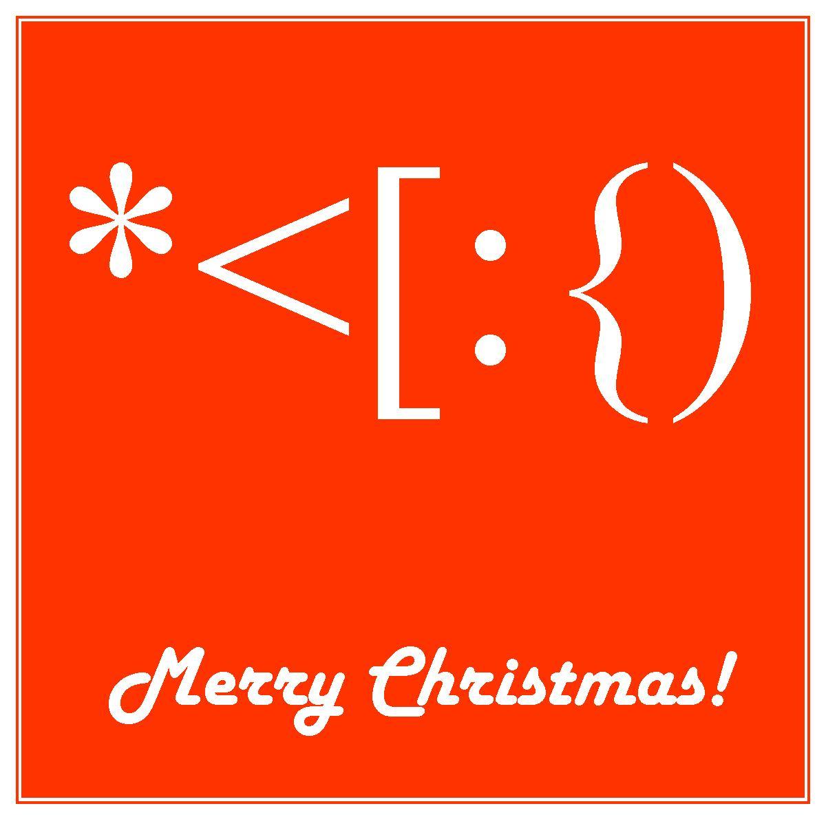 Santa Made from KeyboardSymbols