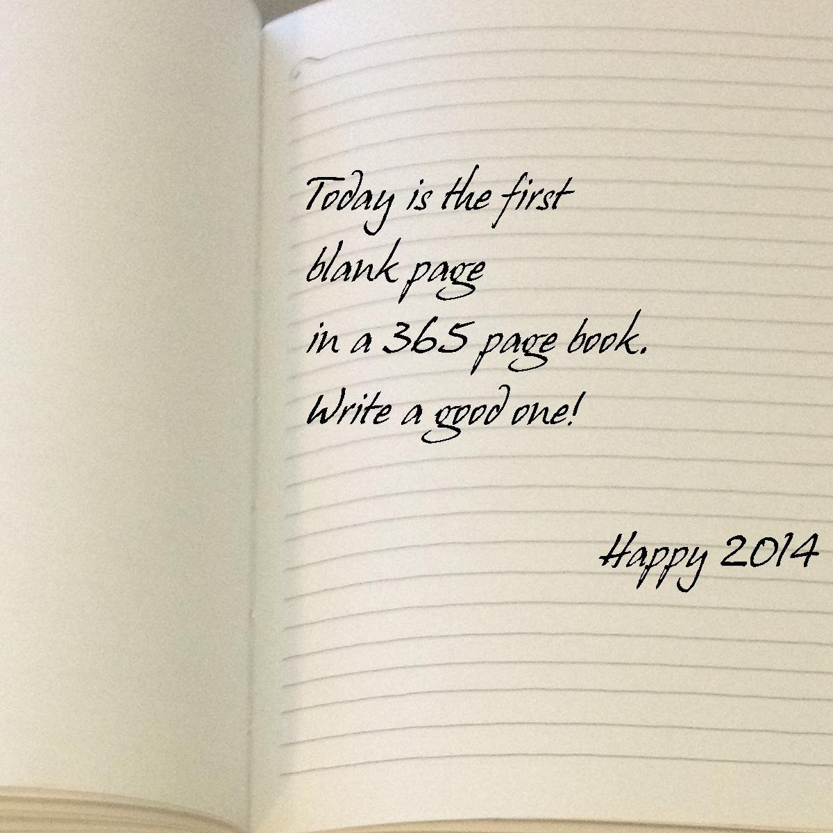 today is the first blank page