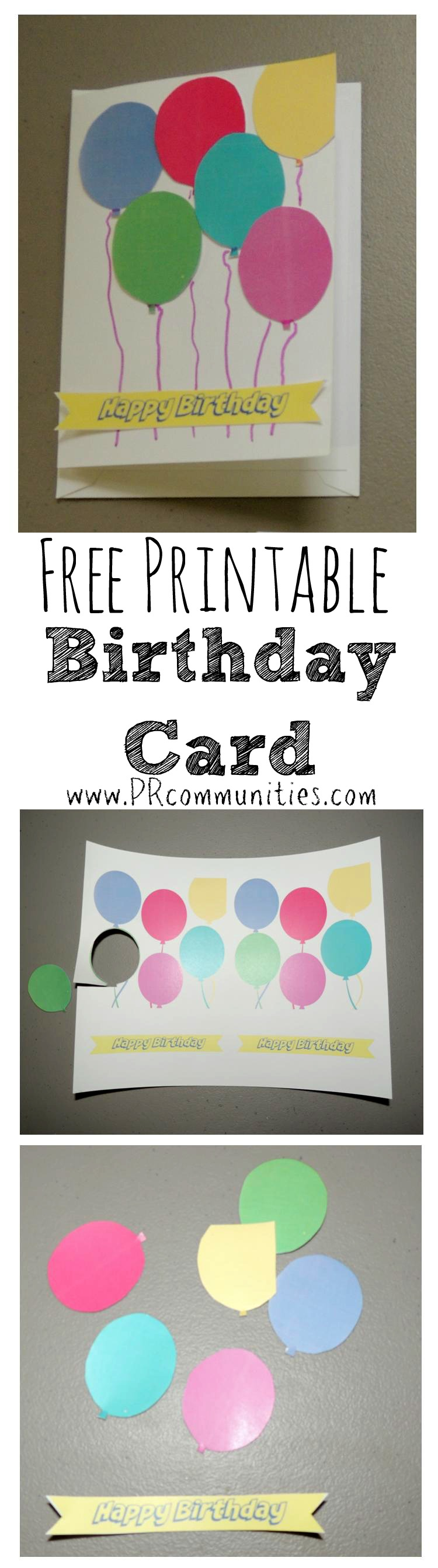 Free Printable DIY Birthday Card