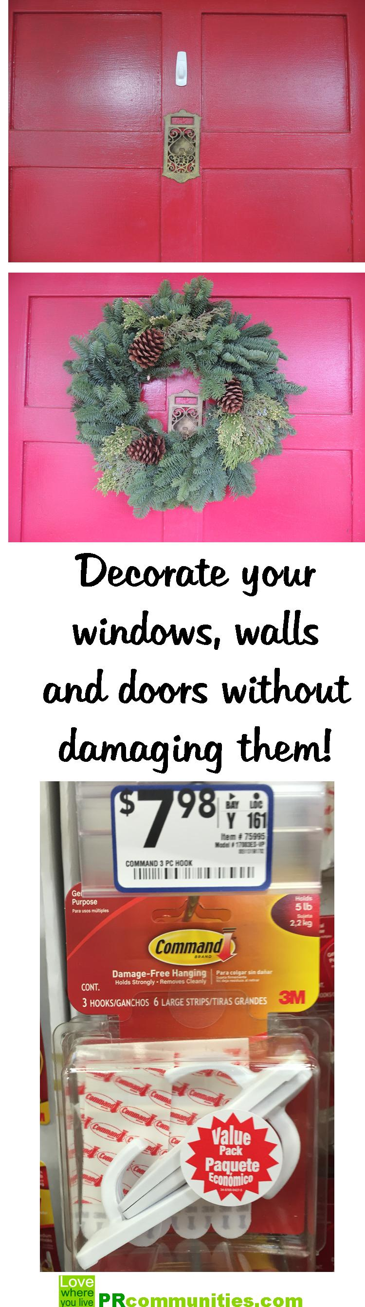 Decorate your windows walls and doors without damage