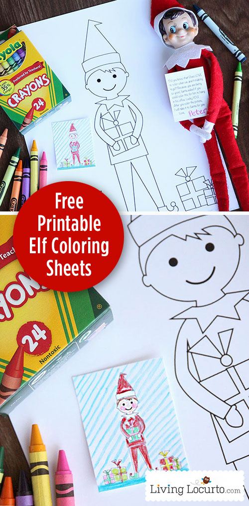Host an Elf on the Shelf Coloring Contest