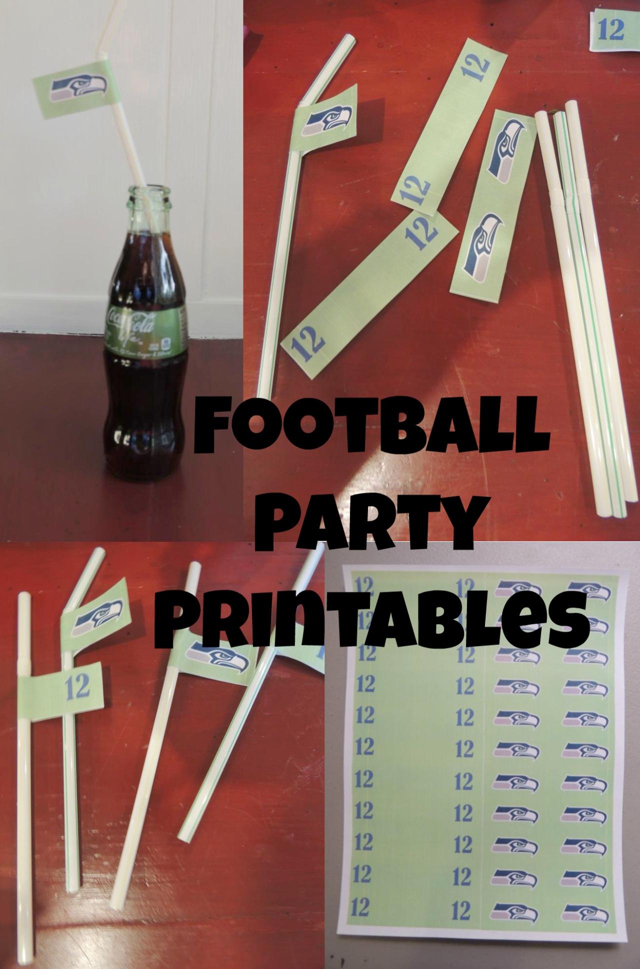#Seahawk #Football #Party Printables