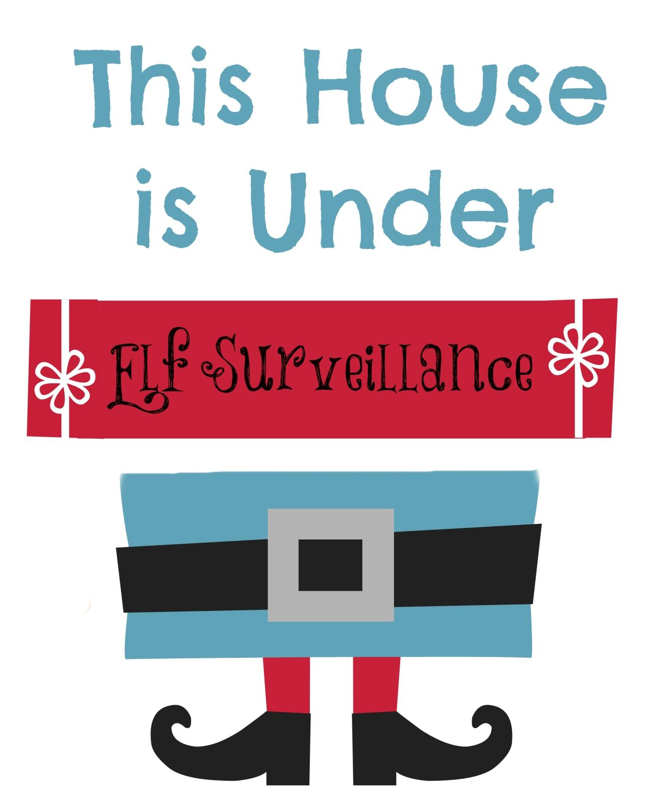 Elf on the Shelf | Elf SurveillancePrintable