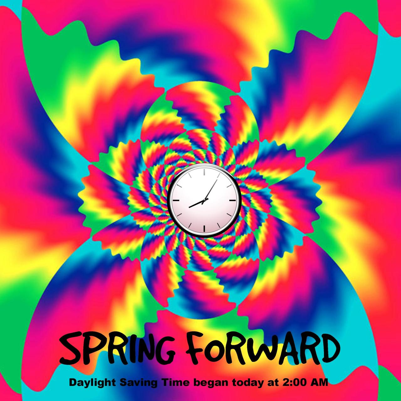Remember #DaylightSaving started this morning (March 8th) at 2:00am.  Time to #Spring forward!