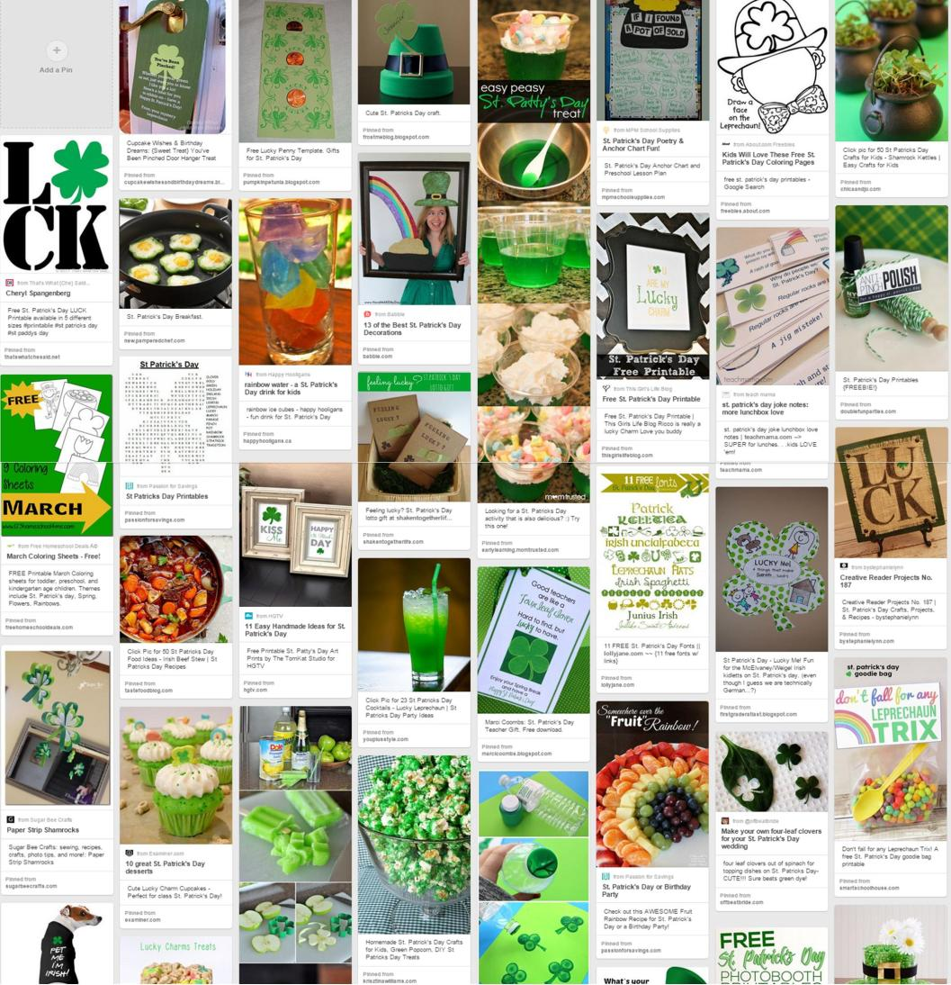 St partick s day Pinterest Board